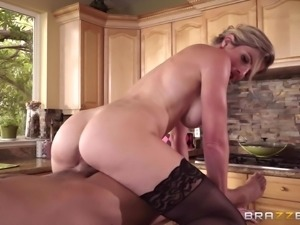 Cory Chase punished with big cock hardcore while she  moans