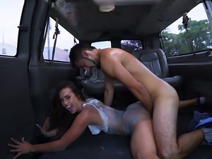Weird and sexy big racked MILF Kelsi Monroe is hammered from behind