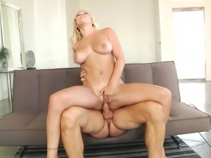Gorgeous blonde Kylie Page penetrated by a hot fellow