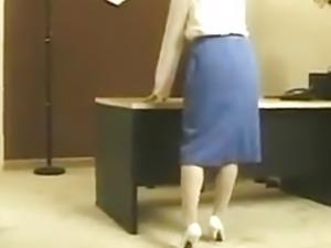 Vintage Asian office strip