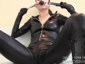 Hot Slender Brunette Shows Off Her Amazing Body