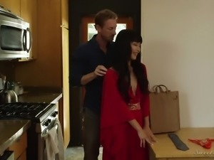 Vivid Japanese MILFie wife Marica Hase gets nailed by black stud