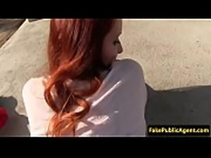 Redhead eurobabe fucked deeply by a stranger