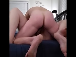Pounding my bbw huge tit wife hard  close up
