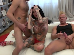 All tattooed punk slutty cowgirl Megan T deserves really hard DP
