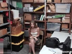 Fresh 18 yo chick Alyce Anderson gets punished by cop in the police station