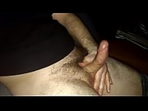 Penis Pulsating after Lubed Up Stroking Cumshot