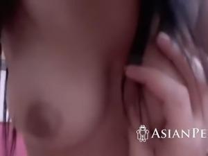 cute and busty asian got her smoking hot twat wrecked
