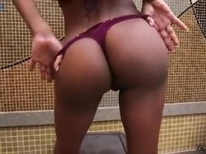 Amazing all alone long haired shemale Lavinia Magalhaes is so into masturbation