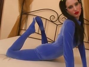 Alice flexi undresses catsuit
