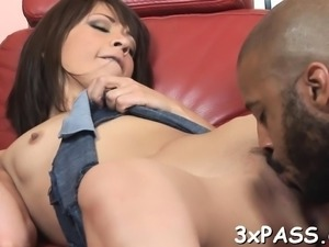 Sexy ebon guy is banging his very raunchy white girlfriend