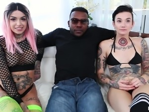 Outstanding threesome with Leigh Raven, Moe Johnson and Nikki Hearts