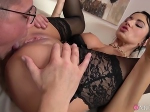 horny polish milf takes the load of the missionary