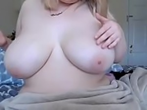 Cute big boobs bbw showing tiny pussy