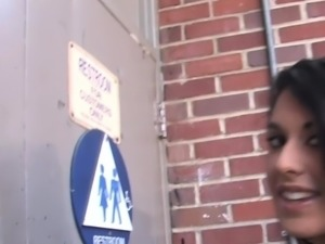 Lily Anderson Inhales Her First Big Black Dick Gloryhole