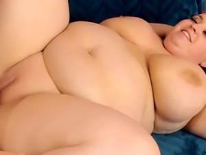 Blonde Plumper Rubs Her Pussy Before Being Fucked