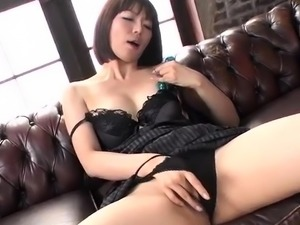 Superb solo by lingerie model  - More at javhd.net
