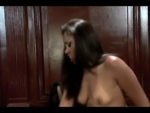 Black chick is happy to ride her boss
