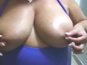 Suzy, Tweaking Her Huge Nipples
