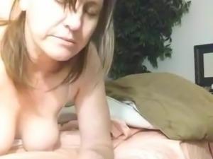 On her belly..