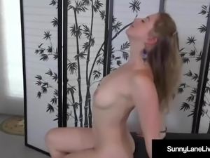 Super Star Sunny Lane Pats Her Pussy to A Perfect Wet Orgasm
