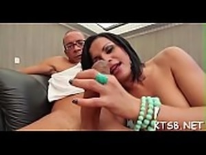 Crazy shemale bitch rides large schlong gets a portion of cock juice