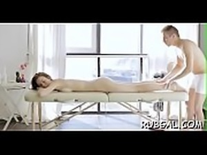 Angel gets massage