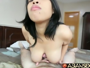 Asian Sex Diary - Filipina MILF sucks and fucks white guy