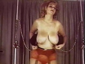 STUCK ON YOU - vintage big boobs dance tease
