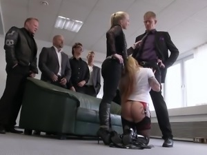 German light haired bitch Mia De Berg is ready to be fucked hard