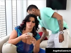 Massive Boobed BBW Angelina Castro Fucked By A Big Hard Cock