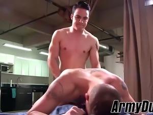 sexy ass soldier richard buldger and captain rix barebacking