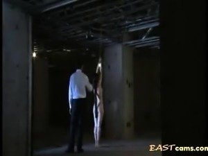 Japanese tied up slut gets spanked