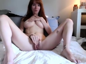 College student Issabella with big boobs and hairy pussy