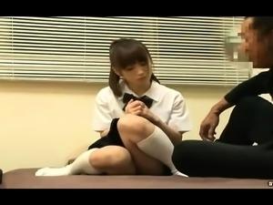 Peachy Asian mature babe enjoys hardcore office sex