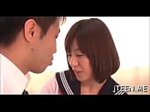 Japanese schoolgirl gets punished and sucks hard 10-pounder