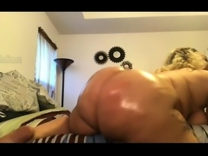 Fat solo blonde toying