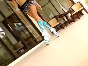 Perfect body Thai girl rides until creampie