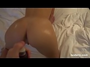 Oiling His Girl&#039_s Perfect Ass then Fucking Doggystyle