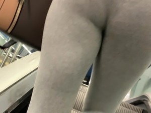 Big and pretty ass of African girl