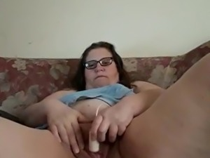 BBW trcay playing till he cums for me